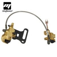 Hydraulic Rear Disc Brake Caliper With Master Cylinder Brake Pads Brake System Fit 110cc 125cc 140cc