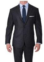 Роскошные шерстяной костюм Для мужчин индивидуальный заказ Супер 120 шерсть Костюмы, Для мужчин Бизнес костюмы, заказ Нарядные Костюмы для с