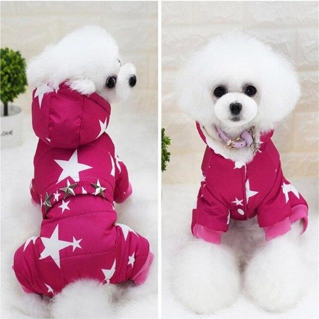 HOT Pet Vestiti Del Cane Cappotto di Inverno Caldo Della Tuta Sportiva Addensare