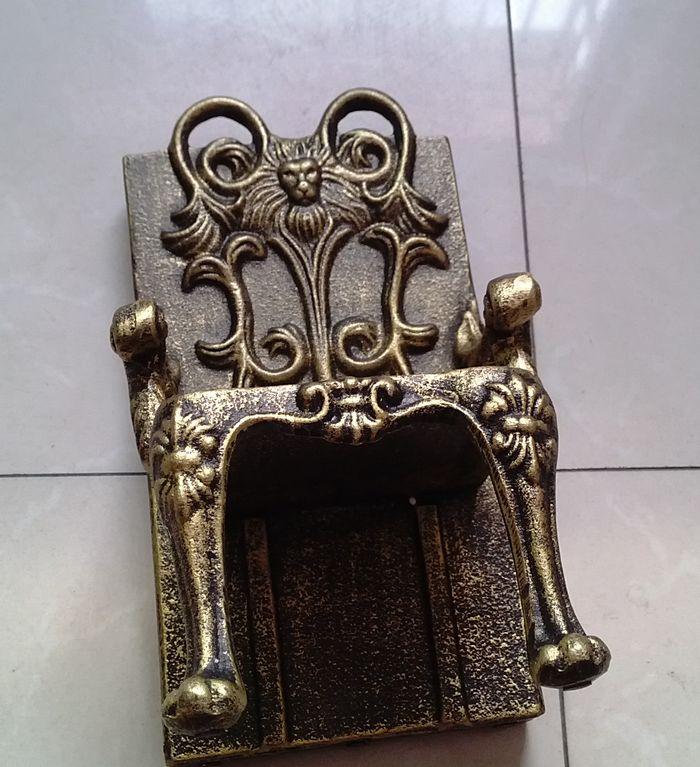 2 Cadeiras de Ferro Fundido Antigo Forma Suporte de Suporte de Livro - Decoração de casa - Foto 6