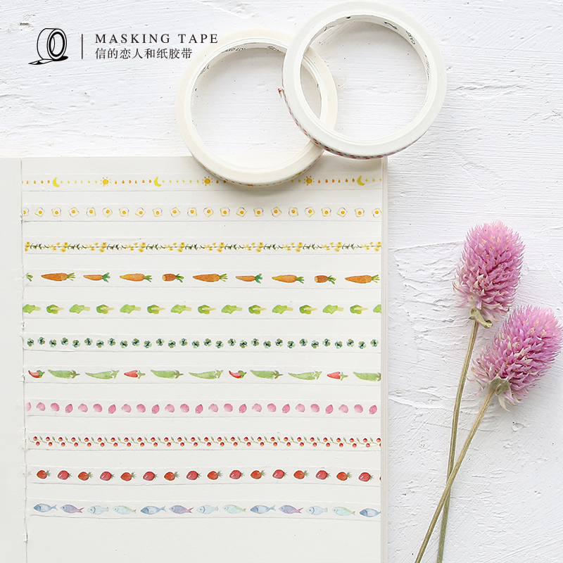 7m X 5mm Water Color Fruits Washi Tape DIY Decoration Scrapbooking Planner Masking Tape Adhesive Tape Kawaii Stationery