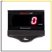 KOSO Mini RPM Meter Digital Square LCD Display Tach Hour Tachometer Gauge With Bracket For Racing Motorcycle