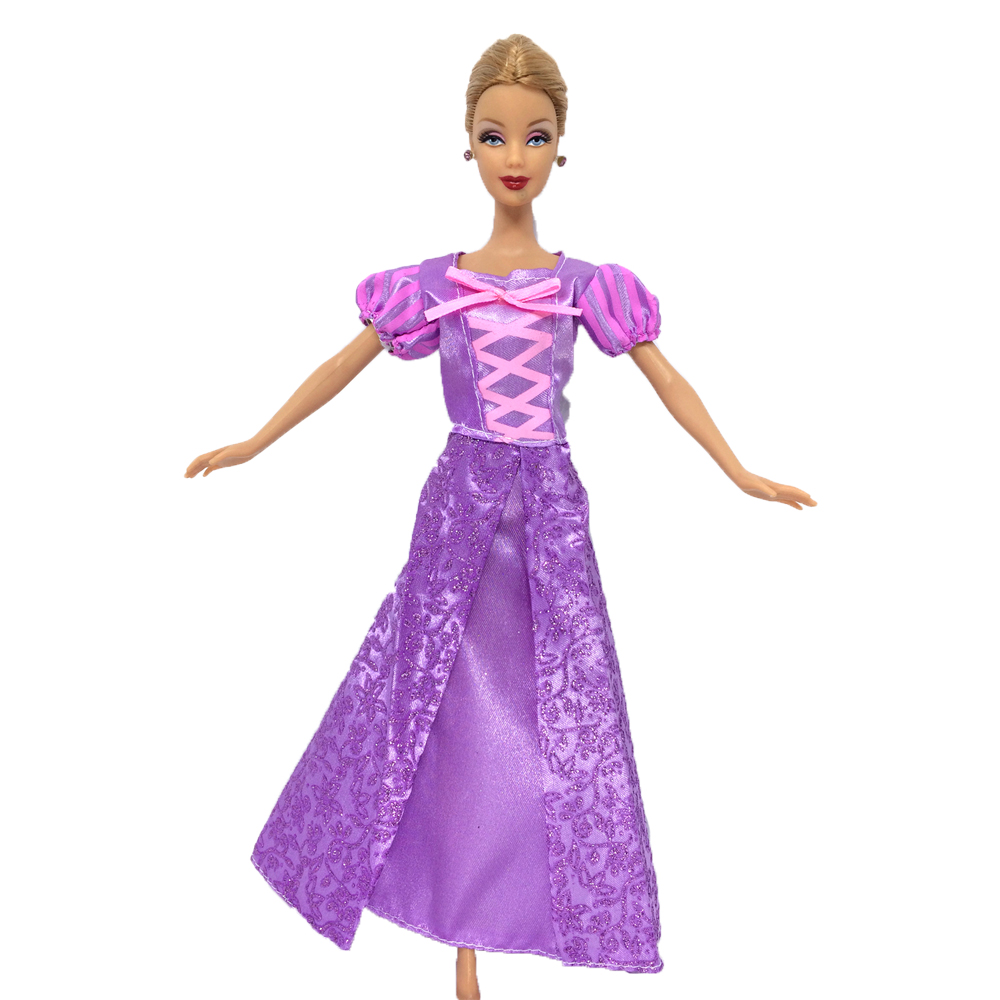 Purple Leopard Print Fashion Doll Clothes For 11.5inch Doll/'s Dress 1//6 Kids Toy