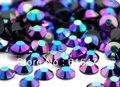 6mm Jelly Sapphire AB Cor SS30 strass Resina cristal Prego flatback Art Pedrinhas, 10,000 pçs/saco