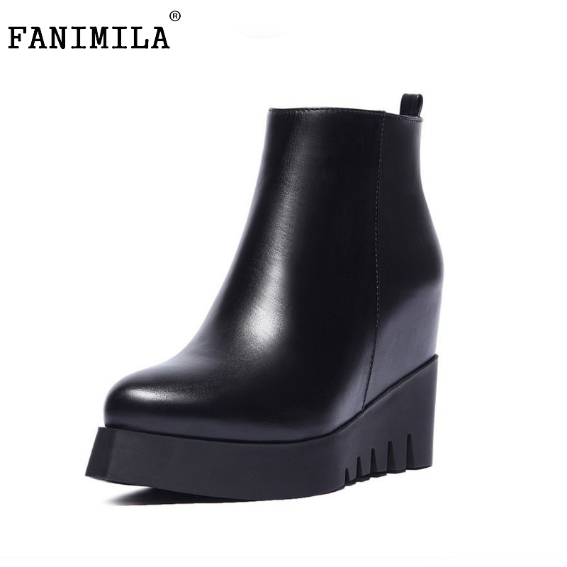 women real natrual genuine leather high heel  boots half short feminina botas winter boot footwear shoes R7249 size 34-39