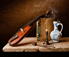 free shipping modern photography musical Instruments still life oil painting canvas printings on canvas art decoration picture