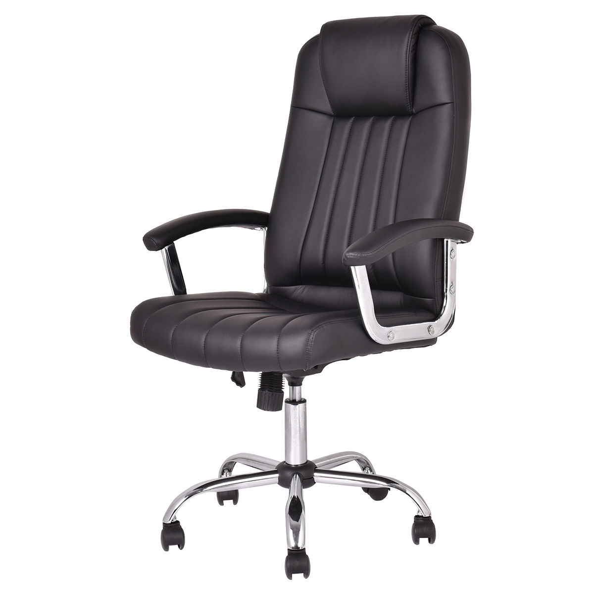 Giantex New Ergonomic PU Leather High Back Gaming Chair Modern Swivel Executive Computer Desk Task Office Chair HW53039 240337 ergonomic chair quality pu wheel household office chair computer chair 3d thick cushion high breathable mesh