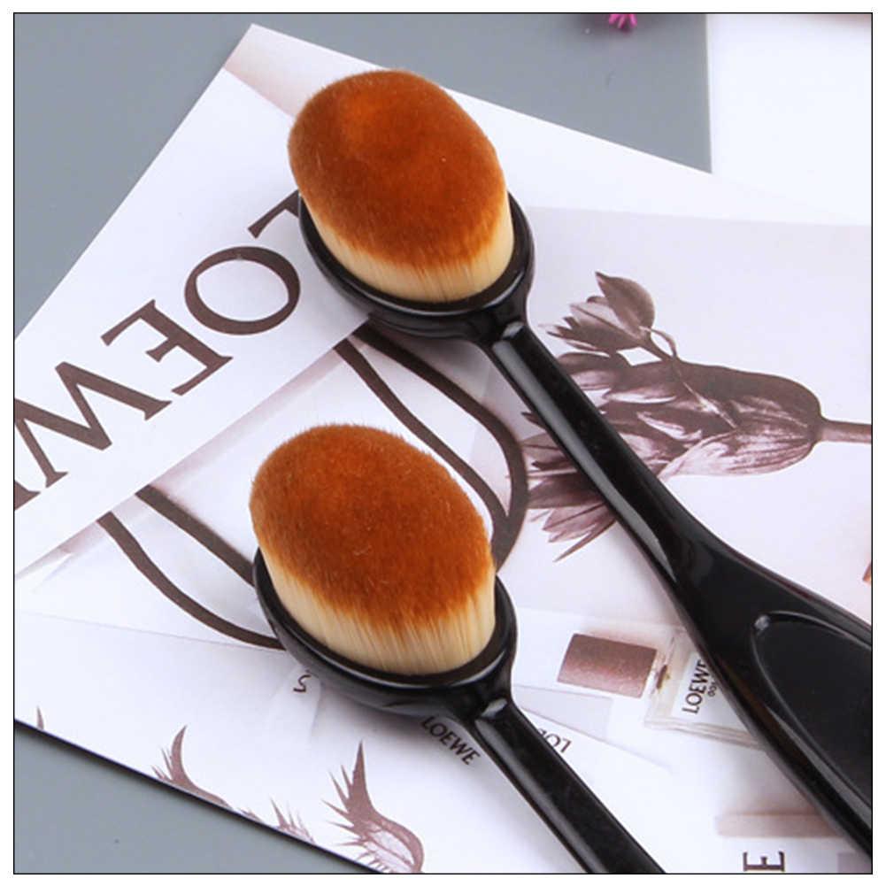 メイクブラシオーバル化粧品歯ブラシプロブラッシュフェイスパウダーファンデーションブラシメイクツール Brochas Maquillaje