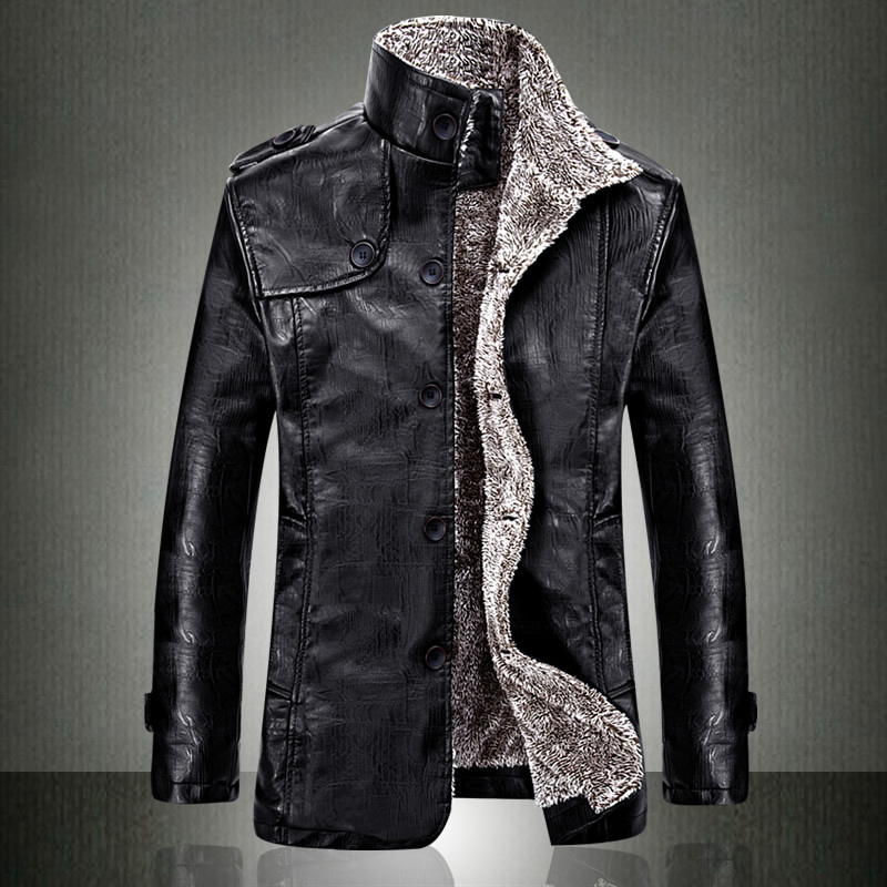 European Fashion Mens Vintage Thickening PU Leather Jacket 2016 ...