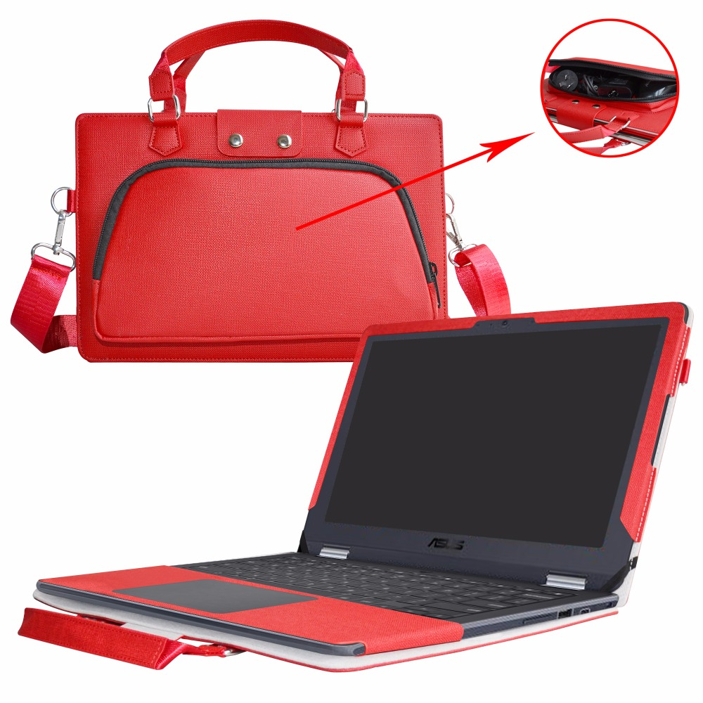 Accurately Designed Protective PU Cover + Portable Carrying Bag For 11.6 ASUS Chromebook Flip C213SA C213NA Series Laptop roocase netbook carrying bag for acer cromia ac761 11 6 inch hd chromebook wi fi 3g deluxe series