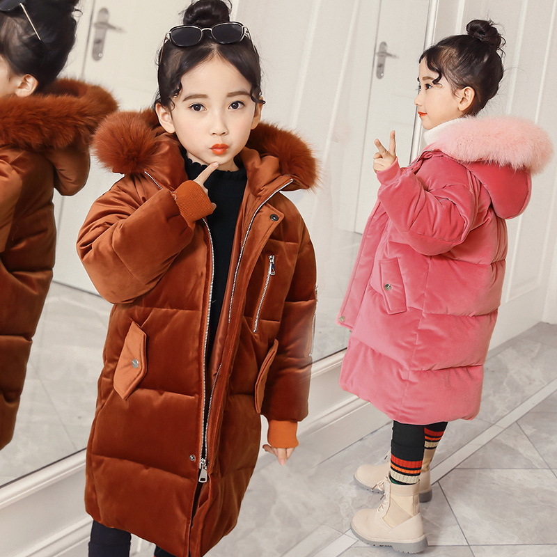 Kindstraum 2018 New Children Thick Cotton Coats Winter Kids Fur Hooded Clothes Brand Velvet Pockets Wear for Girls,RC1707 цены онлайн