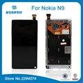 Черный ЖК-Экран Для Microsoft Nokia N9 Дисплей Сенсорный Экран Digitizer Ассамблеи С заменой Несущей части