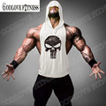 New Skull ZYZZ Bodybuilding Stringer Hoodies Sportwear Stringer Hoodie Fitness Brand Tank Top Men Clothing Cotton Pullover Hoody