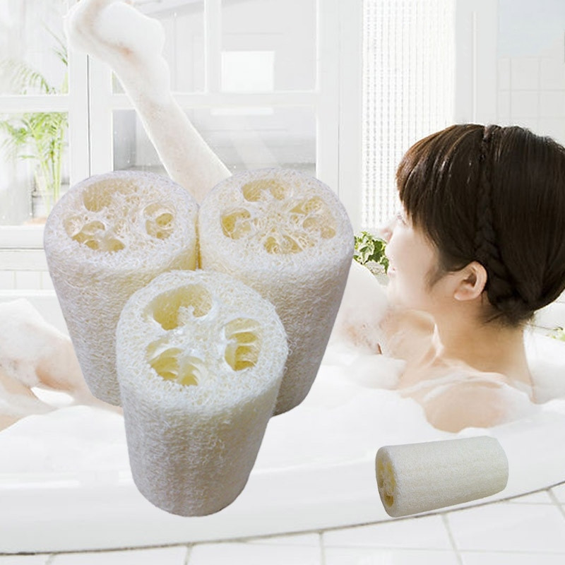 3pcs Natural Loofah Luffa Loofa Bath Body Shower Bathing Massage Spa Scrubber Horniness Remover Bathing Massage Sponge