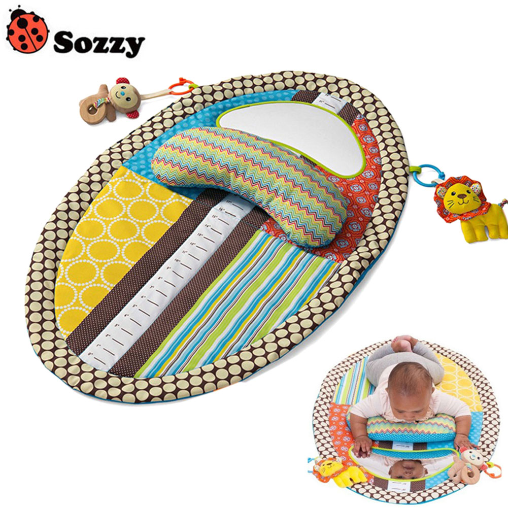 Hot Selli Newborn Crawling Pad Polyester Infant Baby Blanket Learning Education Play Game Mat With Pillow Mirror Dolls @