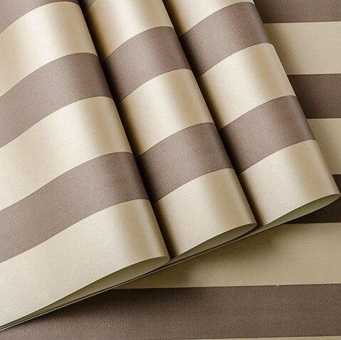 Mordern Brown Striped Wallpaper Roll non-woven listrado moderno for walls  papel de parede