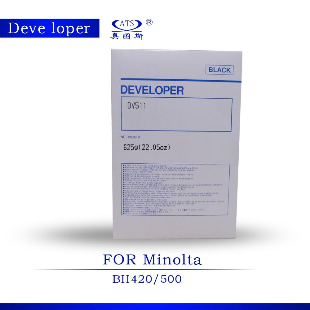DV511 Developer Powder For Minolta BH420 BH500 Developer copier parts toner Photocopy machine 1pcs dv110 compatible developer for minolta 152 183 162 163 210 220 200 copier parts