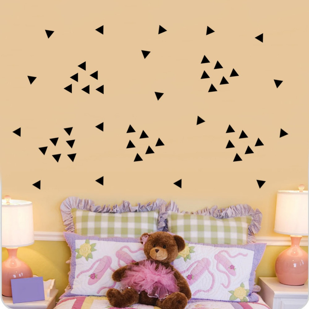 Geometric Triangles Wall Stickers Home Decor Bedroom DIY Wall Decals ...