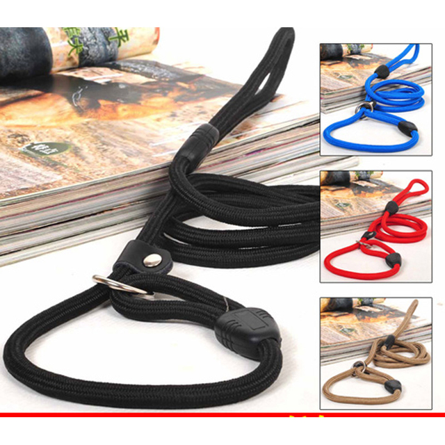 1PC Brand New Nylon Dog Leash Training Dog Lead Strap Pet Dog Rope Collar Traction Adjustable Dog Harness 3 Colors 2 Sizes Hot