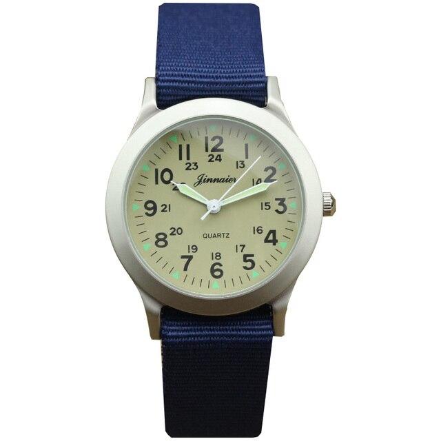 a07e27d8983 New chegou esportes menino moda relógio de nylon crianças promoção ponteiro  Luminoso relógio de quartzo meninas