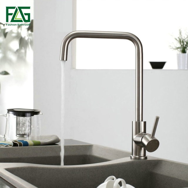 Flg Factory Direct Sale Kitchen Faucet Brushed Nickel 304 Stainless