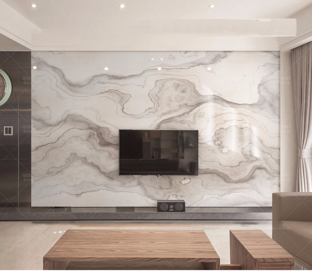 Bacaz Abstract Print brown Texture Marble Wallpaper Murals 3d wallpapers for Living room Marble Wallpaper 3d Wallpaper sticker