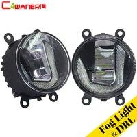 Cawanerl For Citroen C5 2004 2015 Car LED Fog Light Daytime Running Lamp DRL White 12V Styling 2 Pieces