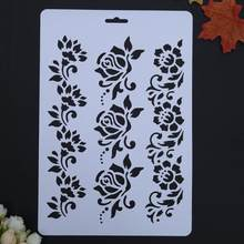 VODOOL Flower Hollow DIY Drawing Stencils Templates Painting Art Craft Scrapbooking Cards Album Stencils Ruler School Supplies(China)