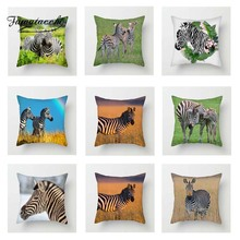 Fuwatacchi Zebra Cushion Cover Wild Animal Throw Pillows for Sofa Bed Home Decor Life Pillowcase 2019 New Arrives