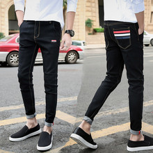 Men Stretchy Ripped Skinny Biker Jeans 2019 Spring Summer Hiphop High Quality Slim Fit Ankle Length Denim Pants Plus Size недорго, оригинальная цена