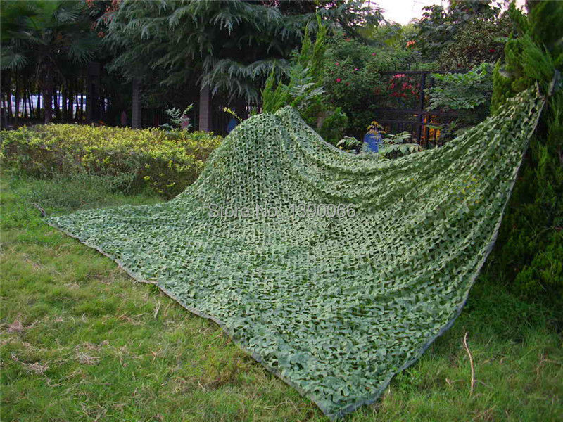 3x5m Green Military camouflage net  woodland leaves jungle camo net Car Drop netting for Hunting Camping vilead 3m x 8m 10ft x 26ft digital military camouflage net woodland army camo netting sun shelter for hunting camping tent
