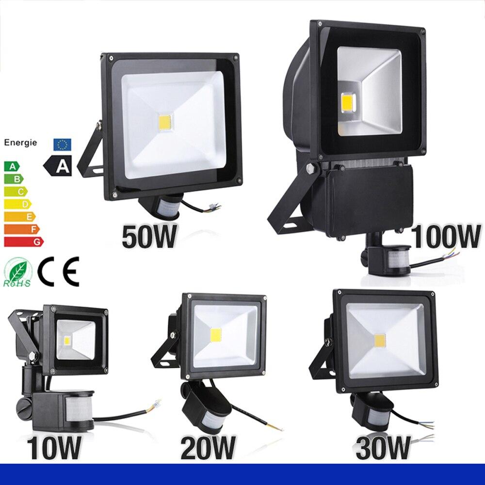 COB IP65 Vízálló LED-es fényszóró mozgásérzékelővel 10W 20W - Kültéri világítás