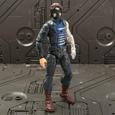 Marvel Мстители 3 Бесконечность войны фильм Аниме Супер Герои Капитан Америка, железный человек, Халк Тор супергерой Фигурки игрушки - Цвет: The Winter Soldier