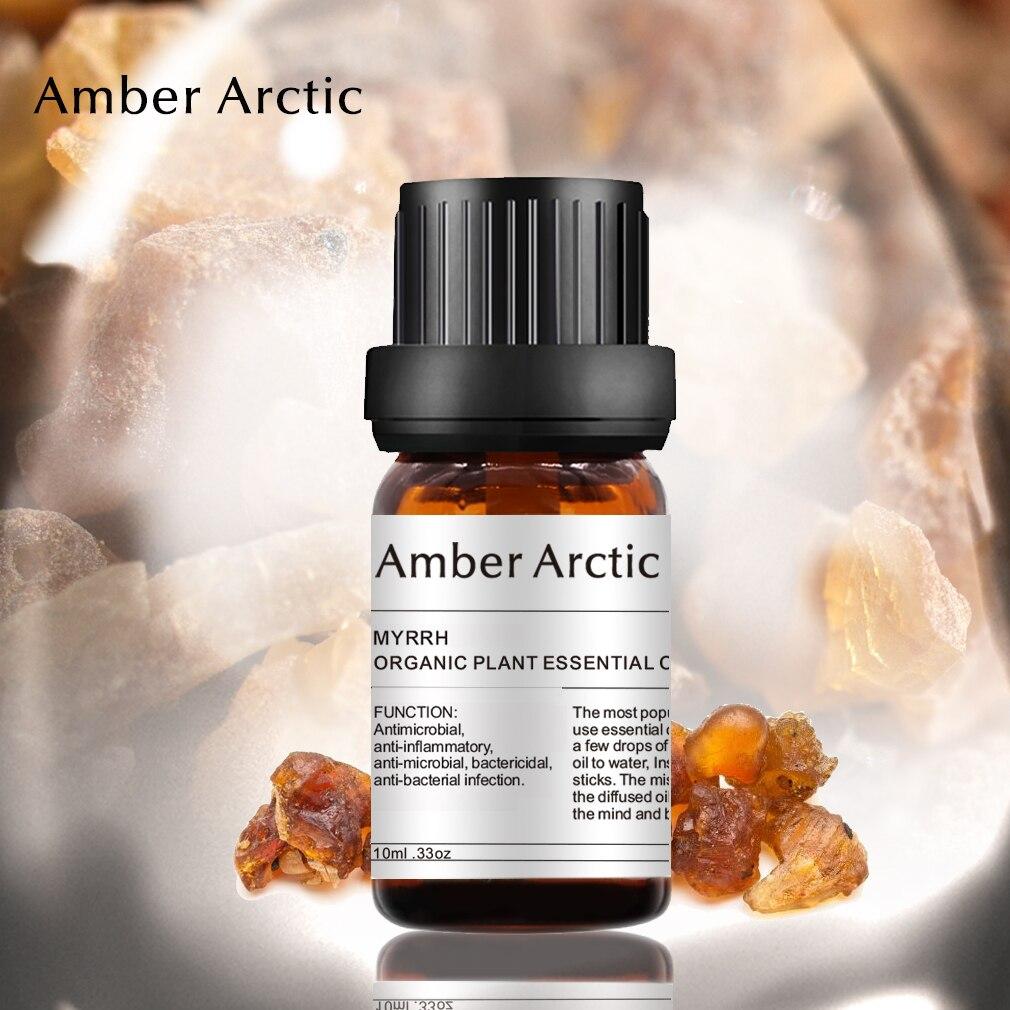 Pure Natural Myrrh Essential Oil 10ml Bactericid Inhibit Skin Inflammation Myrrh Massage Oil  Remove Wrinkle Anti-aging