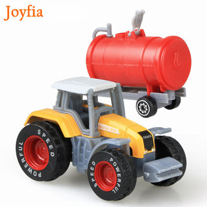 Image 3 - 4 Types Boys Farm Truck Toy Vehicles Engineering Truck Car Models Tractor Trailer Toys Model Car Toy Collectible Car For Kids#