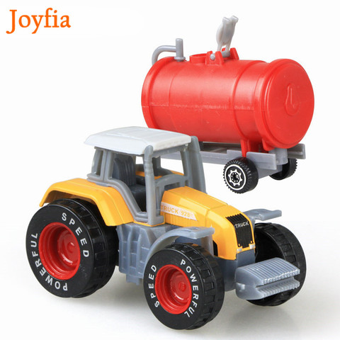 4 Types Boys Farm Truck Toy Vehicles Engineering Truck Car Models Tractor Trailer Toys Model Cars Toy Collectible Cars For Kids# Karachi
