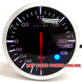 White & red Light 60mm Boost Gauge Meter DEFI BF Meter Motor Paso A Paso