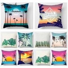 Fuwatacchi Tropical Beach Decorative Pillows Cover Cactus Pineapple Flower Pillow Case Sofa Home Decor Cushion Cover 450*450 цены