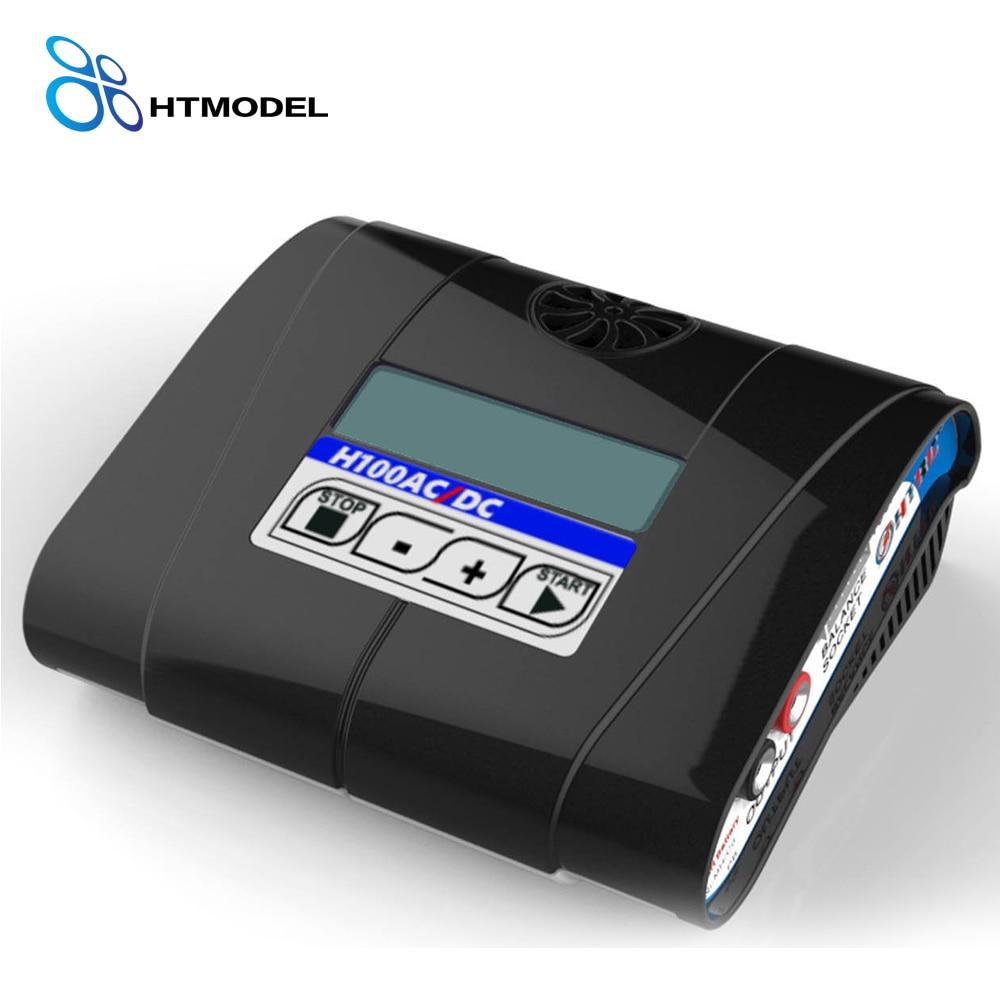 HTRC H100 USB Output RC Bttery Balance Charger AC/DC 100W 10A For Lipo/LiIon/Life/Ni-MH/Ni-CD Battery Black 110 240v al1411dv replace ni cd battery charger for bosch charger gdr12v gsb12v gsb14 4v gsr 7 2v gsr9 6v gsr12v gsr14 4v gsr18v