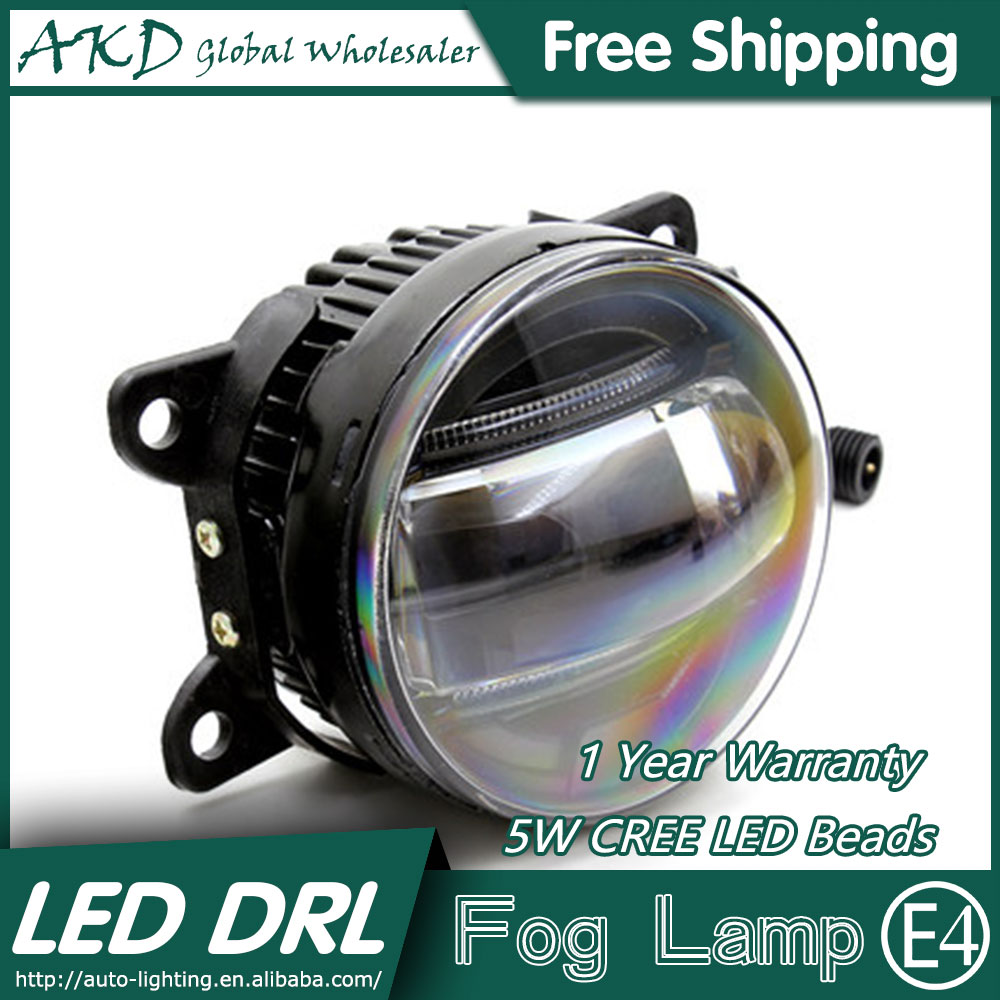 AKD Car Styling LED Fog Lamp for Ford Fiesta DRL 2009-2015 LED Daytime Running Light Fog Light Parking Signal Accessories super white led daytime running lights case for ford fiesta 2009 2013 drl light bar parking car fog lights 12v dc head lamp