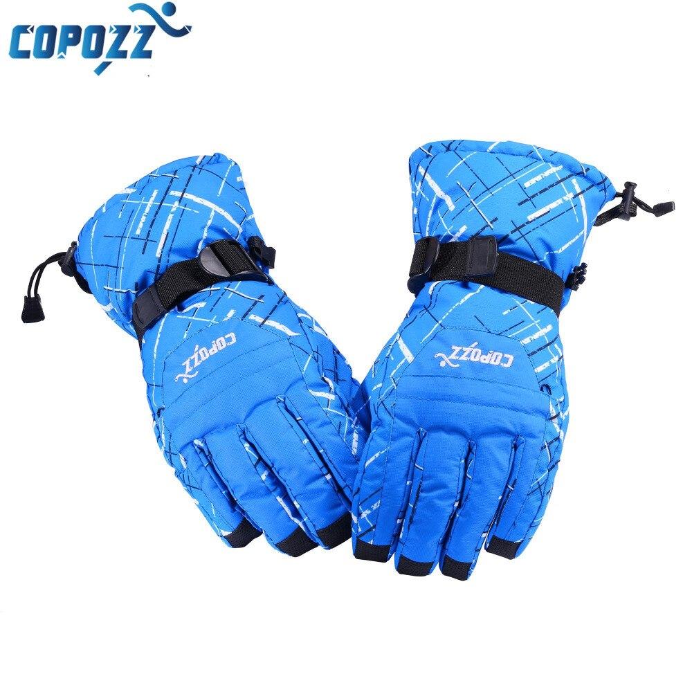 Mens ski gloves xl - Copozz Brand Men Skiing Gloves Tpu Bag Waterproof Motorcycle Winter Snowmobile Snowboard Ski Gloves Warm Ride