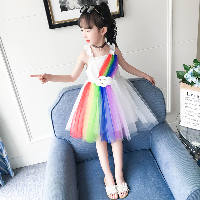 Suspender Dress Princess Teenage Summer Dresses for Girls Princess Party Teenager Clothes Gown Children Summer Kids in Dresses from Mother Kids