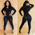 Hot 2015 New Fashion Sexy Vestidos Women Evening Rompers Hollow Out Bodycon bodysuit Jumpsuits