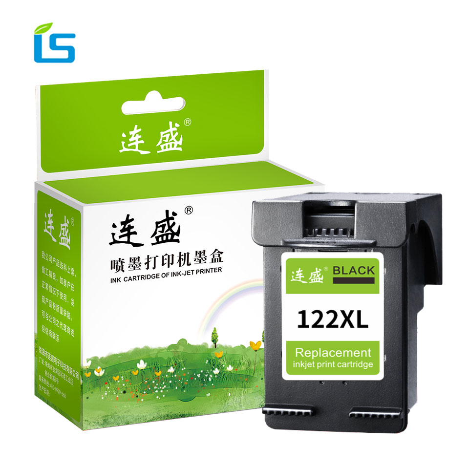 1Pcs 122XL Black Refilled Ink Cartridge Replacement for HP 122 for Deskjet 1000 1050 1050A 2000 2050 2050A 2540 3000 3050A 3052 1050a