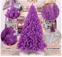 240CM Tall Luxury Encryption Purple Christmas Tree Heavy Pine Artificial PVC Ximas Christmas Trees New Year
