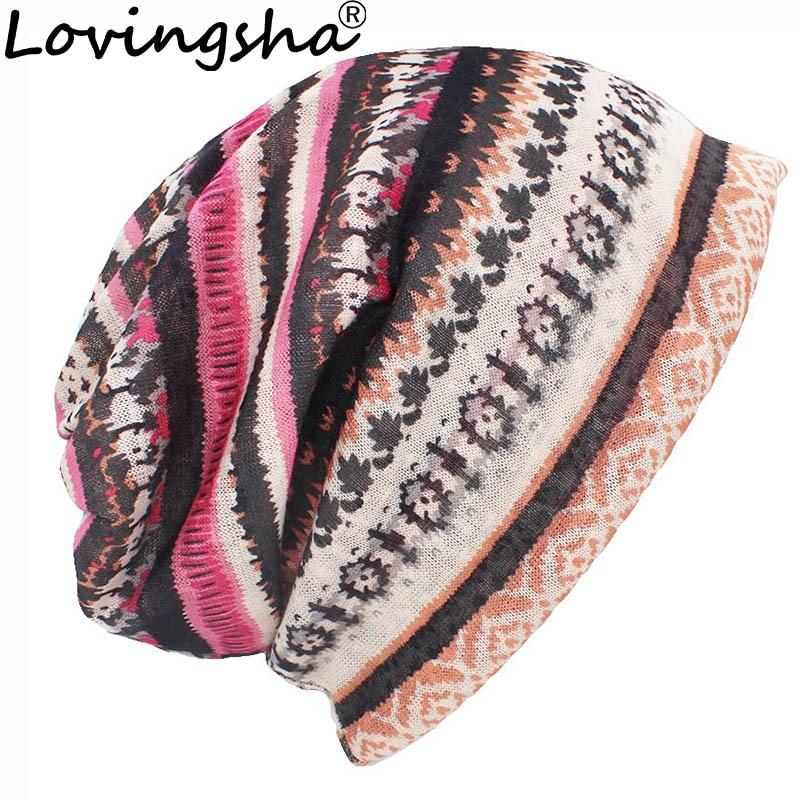 LOVINGSHA Autumn Winter Thin   Skullies     Beanies   Classical Design Hats For Women Men Fashion Feminino Multifunction Scarf HT106