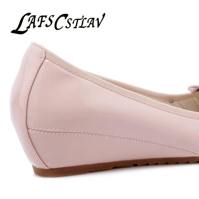 LAFS CSTLAV Sweet Loafer Wedge Heel Mujeres Cómodo Casual Ballet - Zapatos de mujer - foto 5
