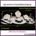 Window Cabinets Jewelry Display Set Stand Black&White Showcase kit Ring Bracelet Necklace Pendant Earrings Holder Rack Organizer