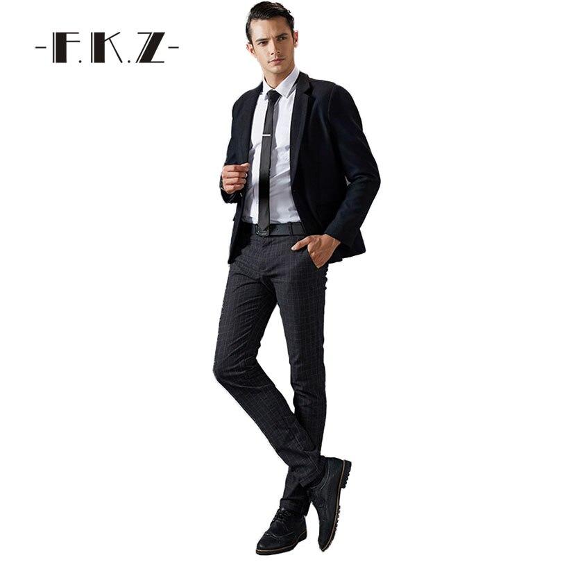 e85d56094ab FKZ New Basic Trajes Para Hombre Negro Sin Pantalones de Vestir de Negocios  boda Nuevo Clásico de La Boda Partido Slim Fit Traje de Negocios Hombres  GNX006 ...