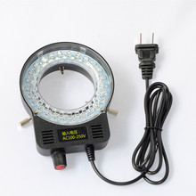 цена на Industrial Microscope Camera LED Light Source 52 LED Ring Light Adjustable brightness High Light Microscope Lamp